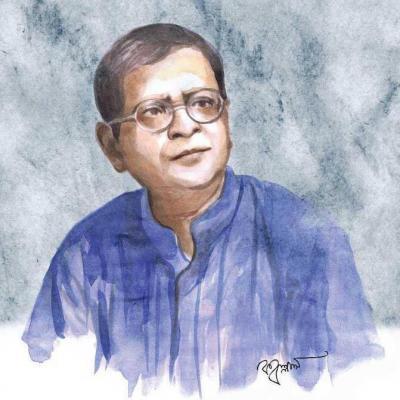 ছবি- হুমায়ুন আহমেদ (১৯৪৮-২০১২। শিল্পী+ছবি ক্রেডিটঃ কল্লোল